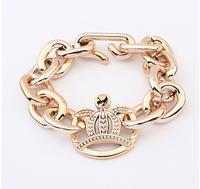 free shipping fashion women's gold crown charm bracelet chain bracelets & bangles alloy jewelry cxt900122H
