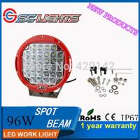 1PCS  96W  LED WORK LIGHT BAR  SPOT BEAM FOR OFF ROAD  BOAT SHIP LED CAR MOTORCYCLE  SUV UTE 4WD CAR STYLUING  REAL SENLIPS