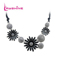 Colares Femininos Flowers Enamel Collar Necklace For Women From India 2014 New Fashion