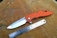 HINDERER Wild boar XM-18B titanium folding knife satin finish bladeTC4 titanium alloy handle free shipping