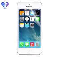 For Apple iPhone 5 5S 5G Diamond Transparent Clear LCD Screen Protector Film for iPhone Phone Screen Guard Protective Sticker