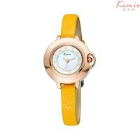2015 New Fashion Women Dress Quartz Watches Casual Watch Genuine Leather Bracelet Kimio Leather Strap Watches KW515