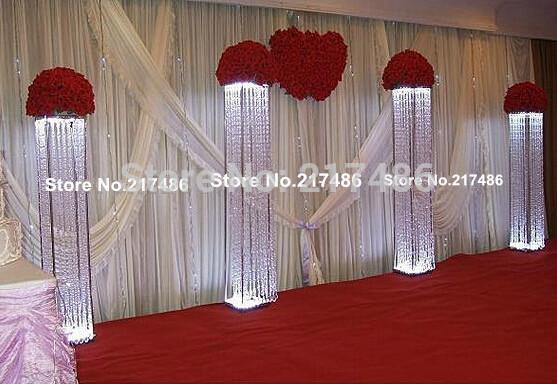 Pilar de cristal para o casamento passarela decoração do casamento de cristal pilar(China (Mainland))