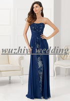 Vestido De Renda Blue Custom Made Sweetheart Long Lace & Chiffon Evening Dress Formal Dresses Vestido De Festa Vestido Longo