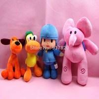 New Pocoyo Stuffed Cartoon Plush Toys Dolls Elly Loula Pato Eli 4 pcs /set lula cute