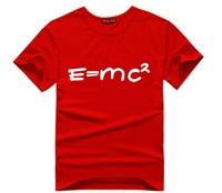 T-Shirt Women O-Neck t-shirt  E=MC2  Escher Design letter print cotton Tops & Tees Short-Sleeve T Shirts  T49