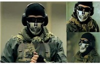 2014 Motor protecting face wind High-quality GHOST CS tactical mask commandos  Face guard riding terror Skull Mask free shipping