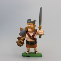 Retail Game Clash of Clans King Barbarian PVC Action Figure Collectible Model Toy 17cm Free Shipping
