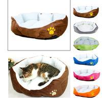 Pet Dog Cat Comfortable Soft Bed Puppy Plush House Nest Sleep Warm Mat Pad machine washable padding material