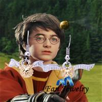 For Harry Potter Quidditch Earrings Golden Snitch Earrings DMV508