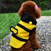 New arrival Polar Fleece Cute Honey Bee Dog Clothes Warm Clothes Pet Puppy Winter Apparel retail