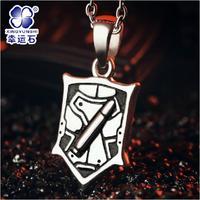 New Sword Art Online 2 Phantom Bullet GGO Asada Sinon Necklace Silver pendant Anime peripheral accessories Free Shipping