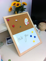 Free shipping natural combination cork board and white board kitchen office supplier 30*40cm factory direct sell home decorative