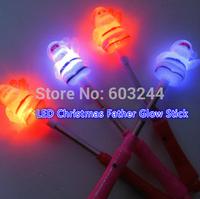 Free EMS 100pcs LED 3D LED Christmas Father party supplies LED Glow Sticks Flash Sticks light up Wand Party Disco KTV kids toys