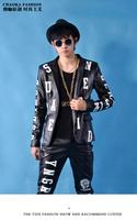 CHAOKA luminous letters right visual kei Chi Long Hair Bar nightclub singer Slim suits and clothing