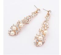 New Arrive Fahsion Gifts Brand Design Clear Crystal Pearl Earrings Temperament Dangle Pearl Earrings Brinco Perola cxt93469