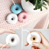 Portable USB Float Water Mini Doughnut Donut Humidifier Aroma Air Diffuser Mist Maker Clean air atomizer#L0192612
