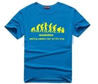 2015 New Arrival Super Cool The Big Bang Sheldon Evolution T shirt Men 100% Cotton O-neck Short Sleeve T shirt men T-shirt T54