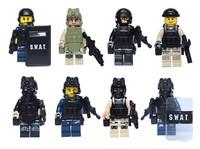 minifigures Navy Seal Team Swat Army Builder Custom SWAT Police City Officer Riot Shield building block