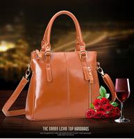 Famous Brands Handbags 2014 Hot Women Genuine Leather Bags Women Handbag Fashion Vintage Bag Shoulder Bags Portable Bag