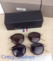 Free Shipping 2015 THOM Brown Women and mens Fashion Sunglasses Brand Vintage  Optics Glasses  New Summer Eyeglasses