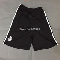 Free shipping Soccer football Real madrid black shorts 14 15 the dragon one NO TAG!!! PLEASE AWARE.