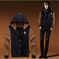 NEW arrive single breasted men hoody euro and amerian style men's outerwear slim casual male sweatshirts J0957