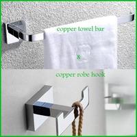 Chrome Finish Copper Towel Holder & Robe Hook