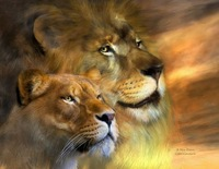 Art Deco handmade oil painting on canvas home decoration living room Inkjet lion animal pictures