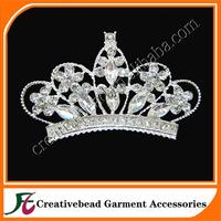 sparkling flat back silver crown crystal rhinestone brooch for wedding invitation cards in free shipping