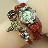 2014 New Arrivals High Quality Tauren Women Dress Genuine Leather Vintage Watch,bracelet Wristwatches For Women and men