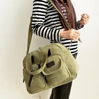 Canvas bag gentlewomen women's handbags trend 2014 women's vintage handbag messenger bag