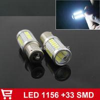 2X 1156 5630 33SMD LED Car Rear Light Tail Light smd 5630 33 leds Super Bright BA15S Light White Turn Light Bulb