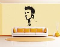 Y186 Free Shipping star football planet sofa wall stickers david beckham