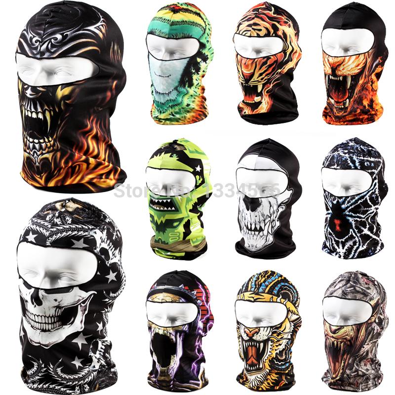 Brand 3D Cycling Bicycle Sports Outdoor Ski Snowboard Motorcycle Skull Cap Helmet Balaclava Headgear Hats Protect Full Face Mask(China (Mainland))