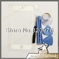 White Original Touch Digitizer Outer Glass Lens Fron Screen Cover For iphone 6 plus + Open Tools