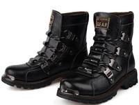 2014 men's boots rivets  short boots martin boots boots plus size
