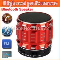 HOT 2014 Mini Bluetooth Speaker Mobile Phone Handsfree With Microphone FM Radio Mini Metal Wireless Bluetooth Speakers 100pcs