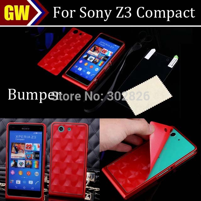 11 candy colors metal bumper for sony xperia z3 compact z3 mini, dhl free shipping