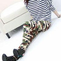 2014 Autumn cotton leggings pants big yards female Korean tidal stretch pencil pants feet camouflage pants female trousers