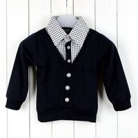 New Arrival 5pcs/lot Cotton Fashion Baby Boy coat Kids Pullovers Kids Costumes 4Colors 3420