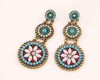 cxt94418  Drop Earrings Long Women 2014 Fashion Bohemian Brand Round Beads Earrings