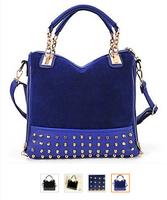 NEW FASHION 2014 HIGH QUALITY WOMEN BAGS RIVET BAGS CROSSBODY HANDBAGS TOTE FAHSION MESSAGE BAGS size:(30*32*10)cm HB03