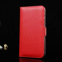 """Luxury Wallet Case for iphone 6 Plus 5.5"""" Litchi PU Leather Flip Stand Cover Cases for iphone 6 Plus Case Gift Protective film"""