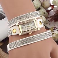 Hot sale 11 colors luxury rhinestone wrap rectangle bracelet watch, women dress watches relogio feminino 2014 montre femme