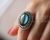 925, Thai silver handmade custom Blu ray natural Labradorite finger ring