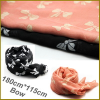2014  Women shawls and scarves Fashion Ribbon Bow Print scarves brand scarf  infinity winter scarf  bufandas marca For women