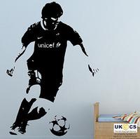 T868 Free Shipping football stars wall stickers meysey wall stickers wall sticker