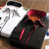 Men's Winter warm shirts corduroy plaid plus velvet thickening thermal shirt men casual long-sleeve shirt