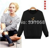 Hot sale!! Women's Hooded Sweatshirts Outwear Hoodies Women Ladies fashion cartoon Coat Winter clothes